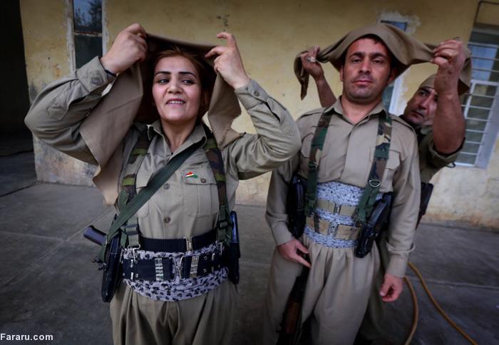 (تصاویر) آموزش زنان کرد برای مقابله با داعش