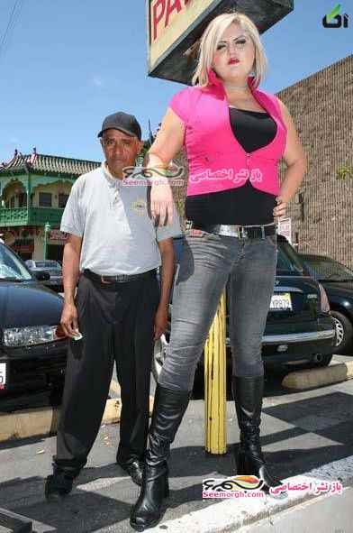 عکس هایی از اندام عجیب یک دختر زیبا با قد 206 سانتی متری!! - آکا,عکس دختر, قدرت بدنی
