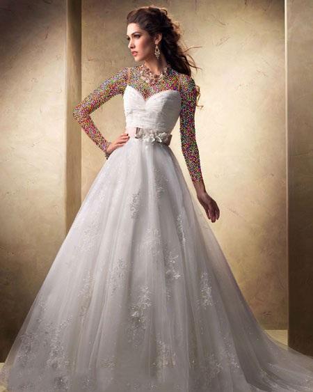 جدیدترین و ناز ترین مدل های لباس عروس اروپایی 2015