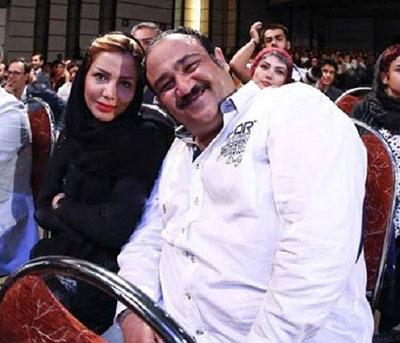 عکس مهران غفوریان در بغل همسرش