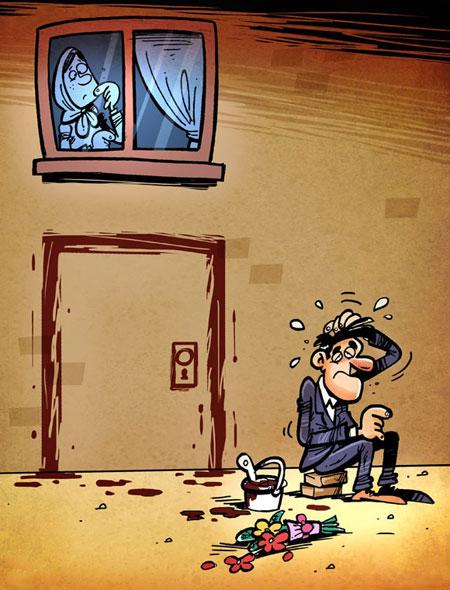 کاریکاتور ازدواج, کاریکاتور زندگی مجردی