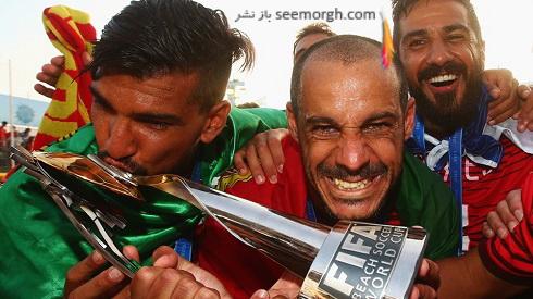 تصاویر جشن قهرمانی پرتغالی ها در جام جهانی فوتبال ساحلی (2)