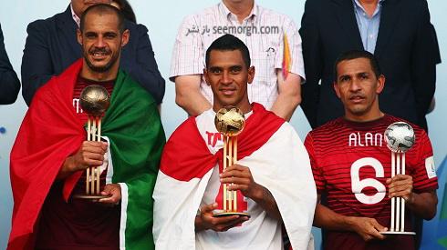 تصاویر جشن قهرمانی پرتغالی ها در جام جهانی فوتبال ساحلی (3)