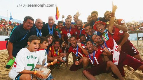 تصاویر جشن قهرمانی پرتغالی ها در جام جهانی فوتبال ساحلی (4)