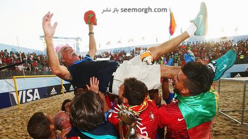 تصاویر جشن قهرمانی پرتغالی ها در جام جهانی فوتبال ساحلی (5)