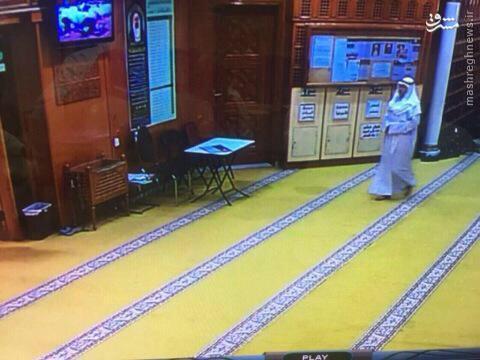 تصاویر لحظه ورود عامل انتحاری به مسجد شیعیان