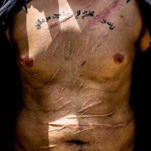 تصاویر بدن خط خطی اراذل و جاهلین تهران