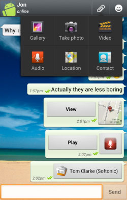 ترفندهای واتس اپ, نرم افزار WhatsApp, چت واتس اپ