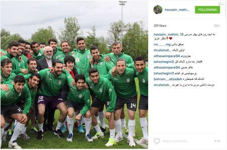 حسین ماهینی، فوتبالیست