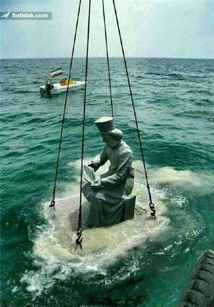 ماجرای نصب مجسمه کوروش کبیر در خلیج فارس + عکس جدید