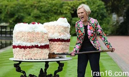 تصاویر دیدنی,تصاویر جالب,کیک بزرگ گل