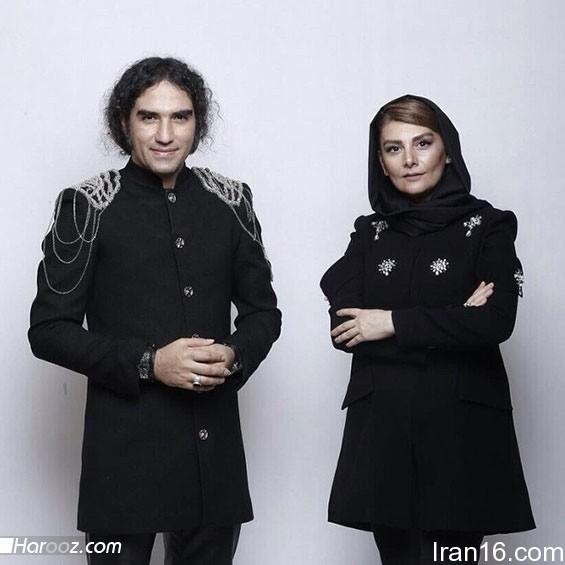 هنگامه قاضیانی و رضا یزدانی خواننده راک ایرانی