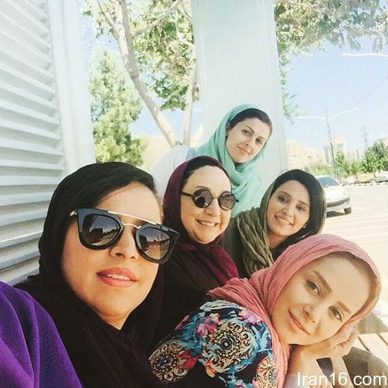 بازیگران دردسرهای عظیم ، مریم سعادت و الناز حبیبی دخترش در نقش فیروزه و بهار