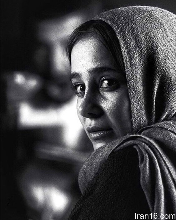 عکس هنری سیاه سفید بازیگر زن سینمای ایران حبیبی