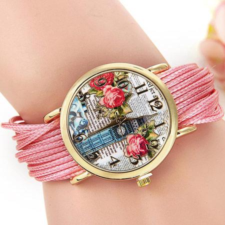 مدل ساعت با بند پارچه ای,ساعت مچی دخترانه