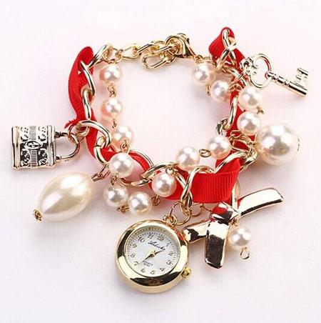 مدل ساعت مچی دخترانه, ساعت بند پارچه ای