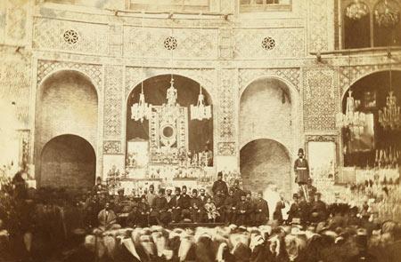 تصاویر آیینهای عزاداری محرم در عصر قاجاریه