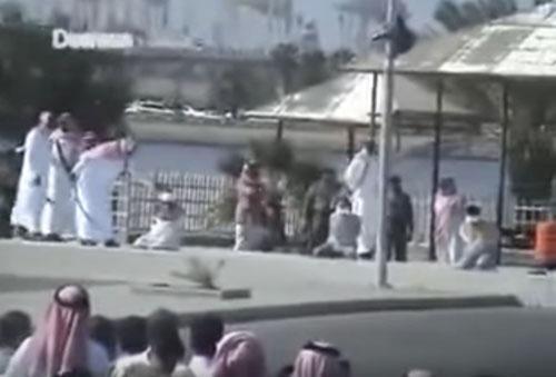 مراسم گردن زنی در عربستان +عکس