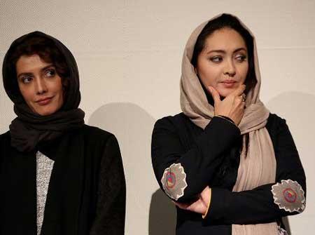 بوسه خفن دو بازیگر بر صورت زیبای نیکی کریمی +عکس