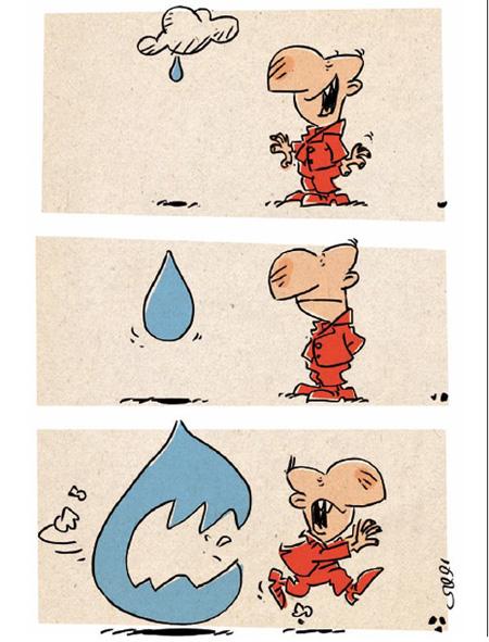 کاریکاتور سیلاب, کاریکاتورهای مفهومی