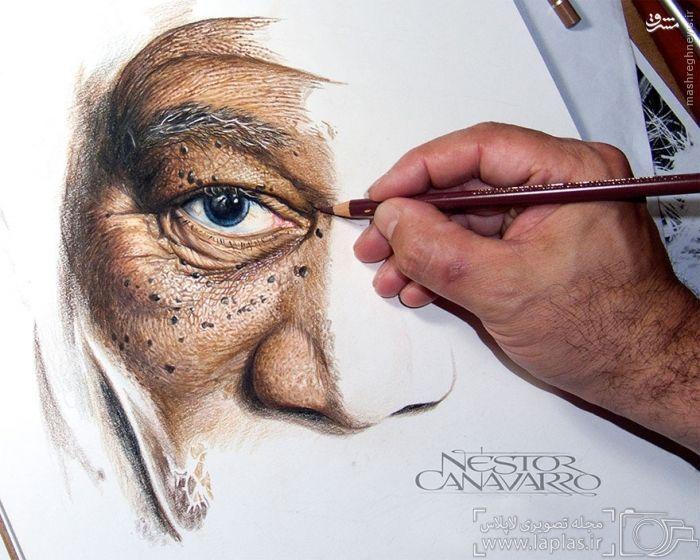 عکس/ 50 ساعت نقاشی با مدادرنگی و نتیجه شگفت انگیز آن