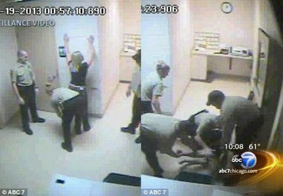 این خانم زیبای مست توسط پلیس برهنه شد + عکس