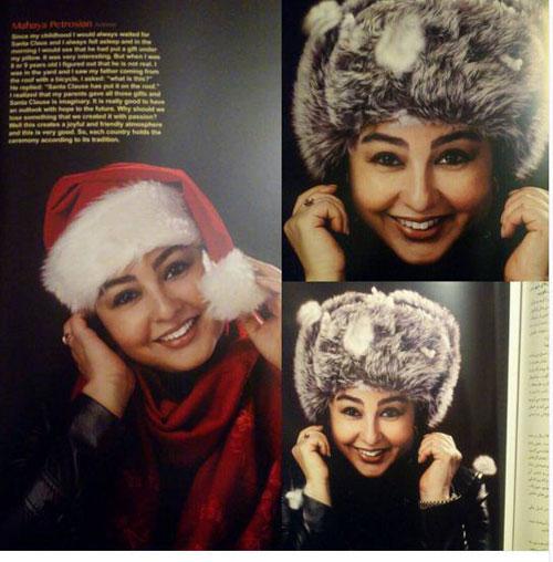 عکس روی جلد ماهایا پطروسیان در یک مجله مد