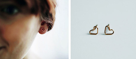 نحوه درست کردن گوشواره قلبی,ساخت گوشواره به شکل قلب