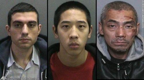 به ترتیب از سمت چپ: حسین نیری ، جاناتان تیو 20 ساله و باک تین دونگ 43 ساله