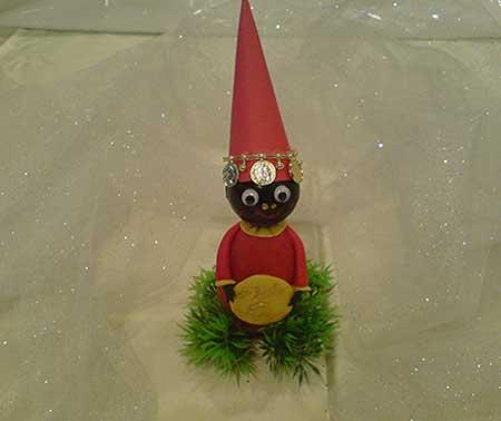 اموزش ساخت عروسک حاجی فیروز با خمیر چینی,عروسک حاجی فیروز با خمیر چینی