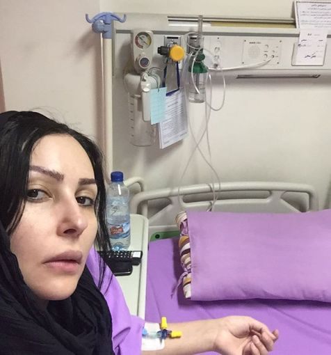 پرستو صالحی در بیمارستان