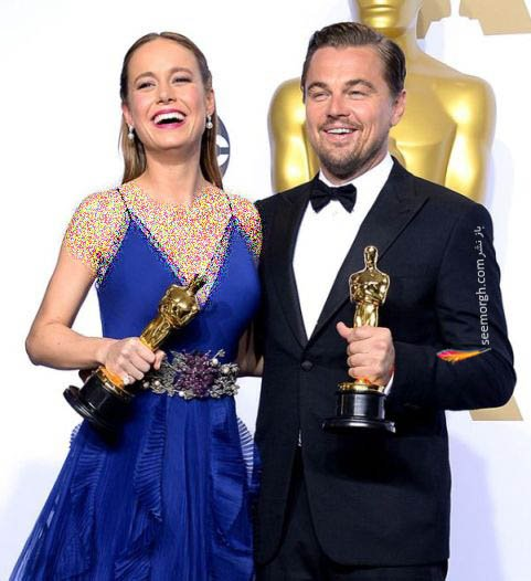 بری لارسن و لئوناردو دیکاپریو بهترین بازیگران زن و مرد