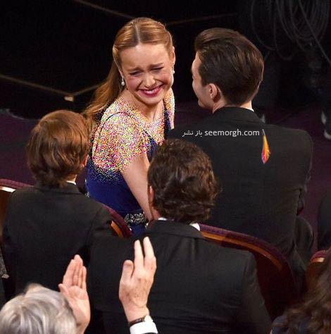 واکنش بری لارسن پس از برنده شدن اسکار بهترین بازیگر نقش اول زن