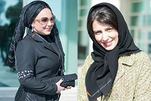 تیپ بدحجاب بهنوش بختیاری و لیلا حاتمی در جشنواره فیلم فجر