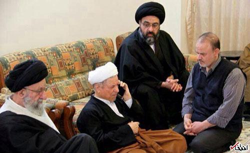 عکس: وقتی هاشمی خبر فوت آیت الله طبسی را شنید
