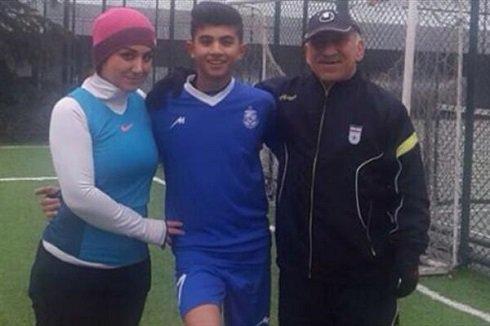 عکس مریم ایراندوست در کنار پدر و پسرش