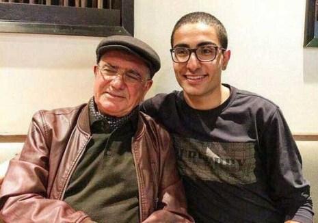 رایان شجریان در کنار پدرش محمدرضا شجریان