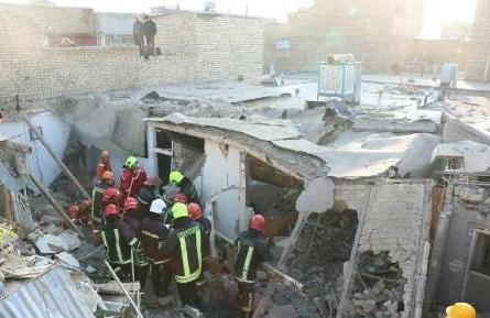 انفجار مهیب منزل مسکونی و مرگ ۳ نفر درمشهد