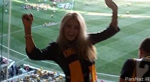 عکس های لو رفته برهنه شدن مدل اسکاتلندی در مسابقات فینال AFL
