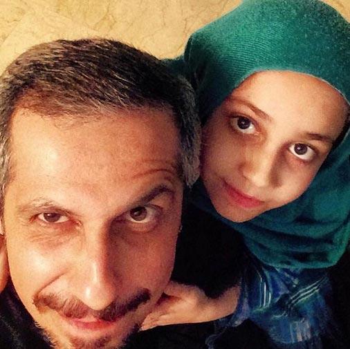 جواد رضویان و دخترش +عکس
