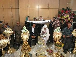 عکسهای ازدواج حسینی بای خبرنگار مشهور+ عکس همسرش