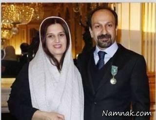 شادی اصغر فرهادی در آغوش همسرش + تصاویر