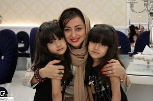 بازیگر زن در جشن تولد چندقلوها +تصاویر