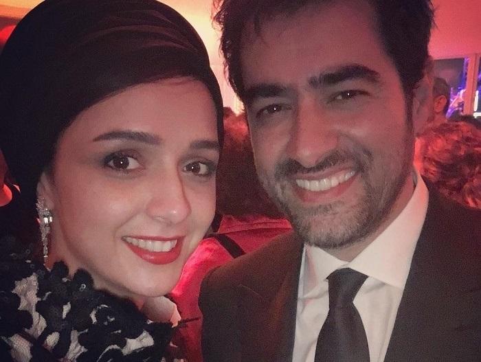 عکس ترانه علیدوستی بغل شهاب حسینی و نخل طلایش