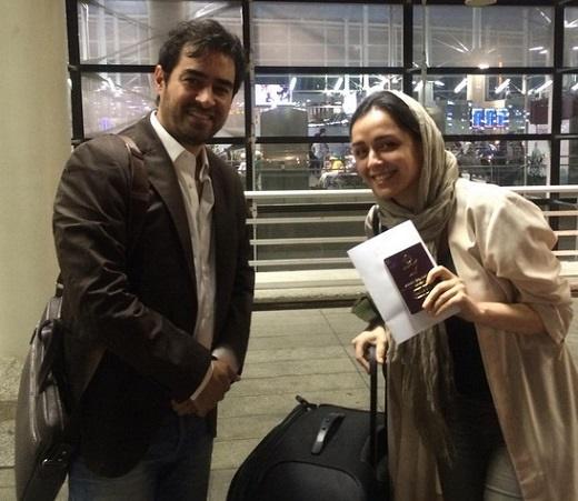 پست اینستاگرامی شهاب حسینی و ترانه علیدوستی از فرودگاه