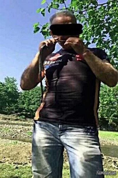 دستگیری مرد مار خوار در رشت + عکس