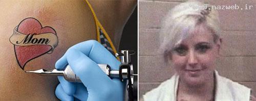 خالکوبی غیر مجاز روی بدن دختر ۱۱ ساله +عکس