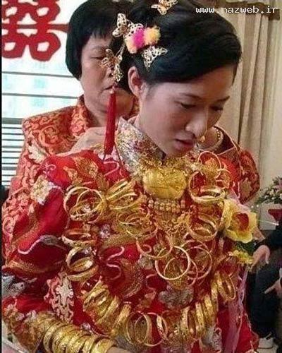 عروسی با ۶ کیلو طلا ! +تصاویر