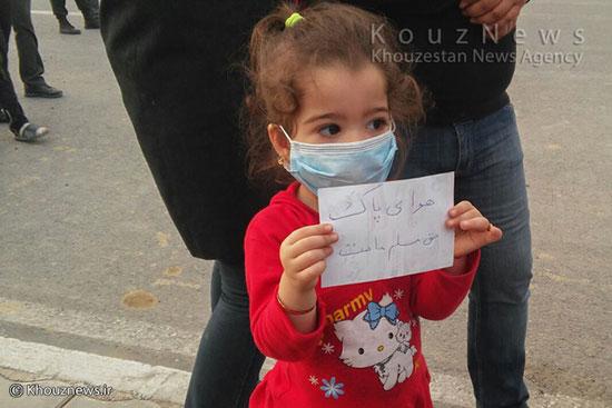 تصاویر اعتراض اهوازی ها به آلودگی هوا