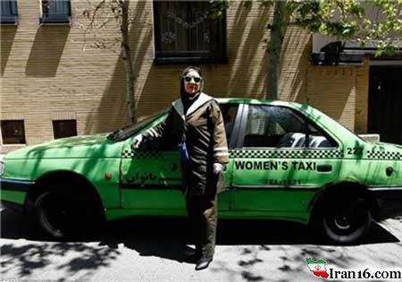 خانم بازیگر ایرانی هم راننده تاکسی شد